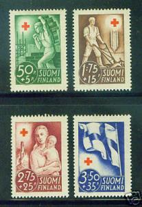 Finland Scott B44-7 MH* 1941 stamp set  CV$9.85