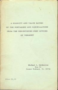 A Scarcity and Value Rating of the Postmarks and Cancella...