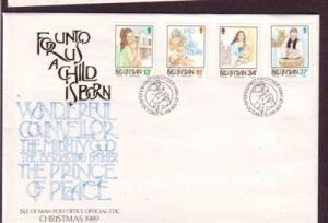 Isle of Man Sc 408-11 1989  Christmas stamps FDC