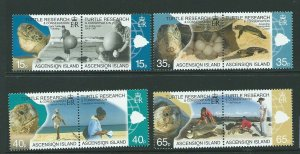 ASCENSION SG1048/55 2009 TURTLE RESEARCH & CONSERVATION MNH