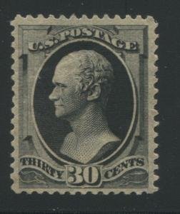 1881 US Stamp #190 30c Mint No Gum Perf 12 Catalogue Value $300 Certified