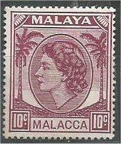 MALACCA, 1954, MNH 10c, Elizabeth II Scott 35