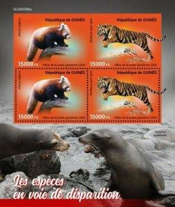 2020/12- GUINEA - ENDANGERED SPECIES      4V    MNH **