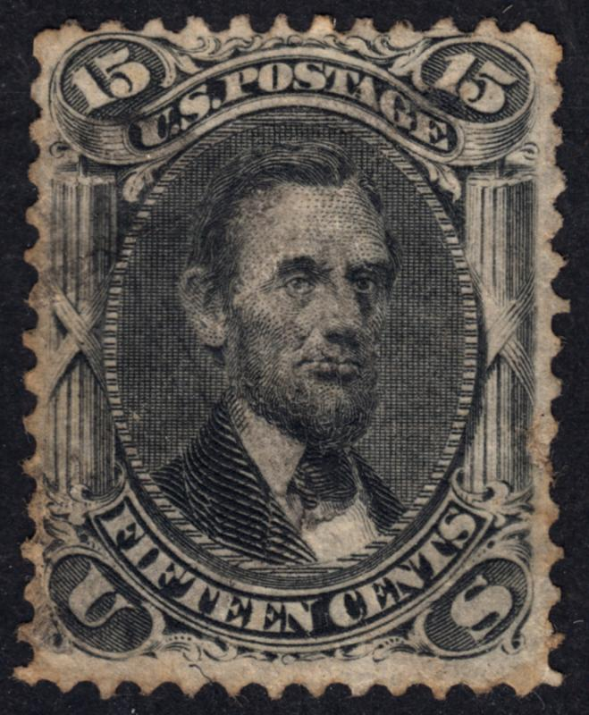 USA 1861 Abraham Lincoln 15c Catalog 225 US$