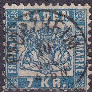 Baden #28 F-VF Used CV $35.00  (Z3048)