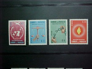 Paraguay MNH 565-8 Declaration Of Human Rights 1960