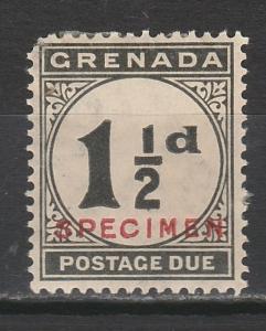 GRENADA 1921 POSTAGE DUE SPECIMEN 11/2D
