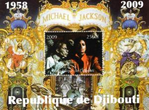 Djibouti 2009 Michael Jackson (1958-2009) SS Perf.MNH VF