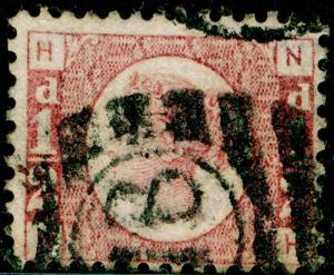 SG49, ½d rose PLATE 12, USED. Cat £22. NH