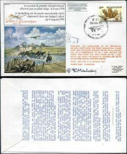FF32bb 1st Effective Operational Sortie by a Belgian Pilot Signed by G.H Mackay