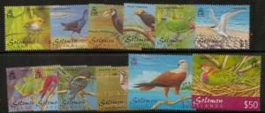 SOLOMON ISLANDS SG976/87 2001 BIRDS MNH