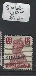KUWAIT   (P2804B) ON  INDIA  KGVI   12A    SG 62   VFU