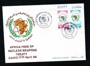 1996- Egypt- Treaty declaring Africa a Nuclear Weapon-free - FDC