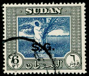 SUDAN SGO79a, 6p deep blue & black, FINE USED. Cat £11.