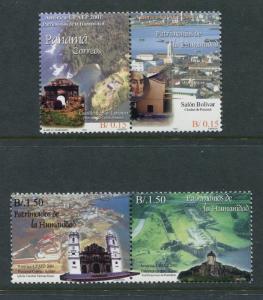 Panama 899-900, MNH, 2002 America Issue-UNESCO Word Heritage x26682