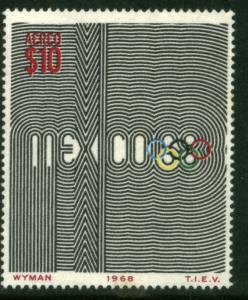 MEXICO C344, $10Pesos 1968 Olympics, Mexico City MINT, NH. VF.