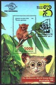 Indonesia. 1999. bl144 I. Lemur fauna. MNH.