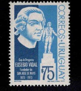 Uruguay Scott 887 Eusebo Vidal Statue stamp