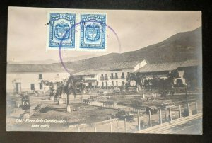 Vintage Plaza Cali Columbia to Tours France Real Picture Postcard Cover
