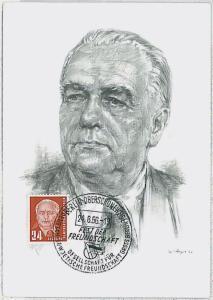 MAXIMUM CARD - POLITICS : GERMANY DDR 1956
