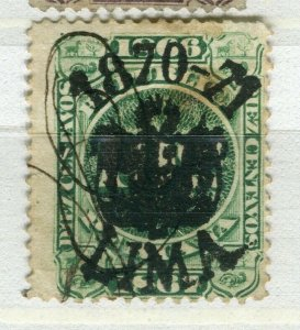 PERU; 1870s early classic Revenue issue fine used 10c. value LIMA