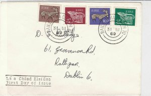 Ireland 1969 Baile Atha Cliath Cancels Multi Animal Shapes Stamps Cover Rf 34785