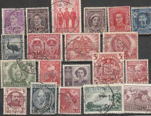 Australia Used Lot of 20 CV $18 #190816-3