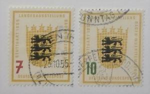 Germany 729-30. 1955 Baden-Wurttemberg Exhibition, used