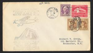 UNITED STATES First Flight Cover 1932 Portland to Fort Vancouver