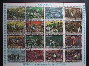 GUINEA EQUATORIAL STAMP- THE STORY OF NAPOLEON CTO-MNH STAMP SHEET  VERY RARE