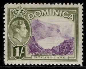 DOMINICA GVI SG106, 1s violet & olive-green, NH MINT.
