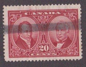 Canada # 148, Robert Baldwin & Louis Lafontaine, Used, 1/3 Cat.