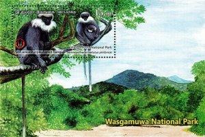 Sri lanka stamps Wasgamuwa national part 2019 MS - (#4)
