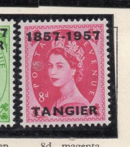Tangier 1957 Early Issue Fine Mint Hinged 8d. Optd 265214
