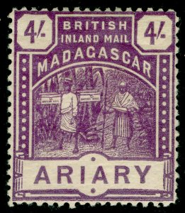 MADAGASCAR SG62, 4s brt purple, LH MINT. Cat £60.