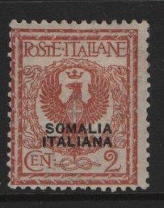 SOMALIA, 83, HINGED, 1926-30, ITALIAN STAMPS OF 1901-26 OVERPRINTED