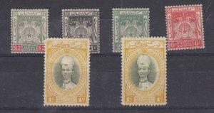 Malaya Kelantan 1911 Collection Of 6 To $2 MH J7135