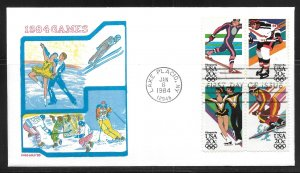 United States 2070a Winter Olympics Doris Gold First Day Cover FDC (z1)