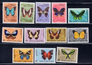 Papua New Guinea 209-220 NH 1966 Butterflies