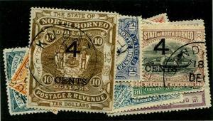 HERRICKSTAMP NORTH BORNEO Sc.# 91-102 Less #99 Used Scott Retail $186.00