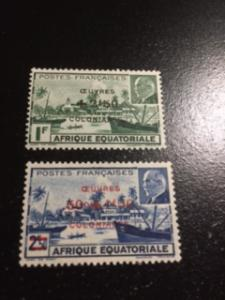 French Equatorial Africa sc B36,B37 MLH