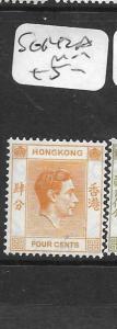 HONG KONG      (PP2706B)  KGVI 4C  SG 142A   MOG