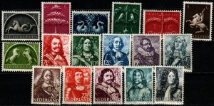 Netherlands #245-61 MNH CV $4.35  (P67)
