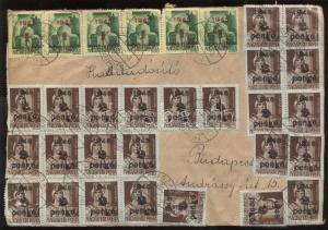 Hungary stamp Inflation cover 1945 WS121631
