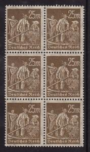 Germany #225 block of 6, F-VF Mint NH ** (see description)