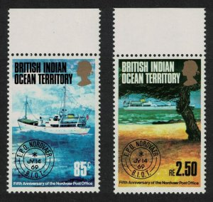 BIOT 5th Anniversary of 'Nordvaer' Travelling Post Office 2v Top Margins