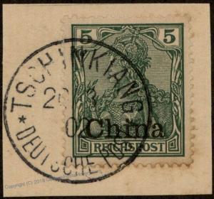 Germany China 1902 TSCHINKIANG Deutsche Post Germania 85166