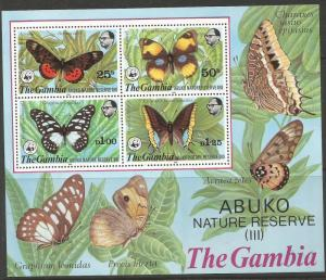 Gambia 1980 Butterfly WWF SC 407a MNH (6cwq)