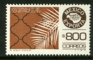 MEXICO Exporta 1499 $800P Constr Mats Fluor Paper 13 MNH