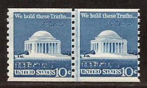 U.S.  #  1520  Line  Coil  Pair  Mint  N H